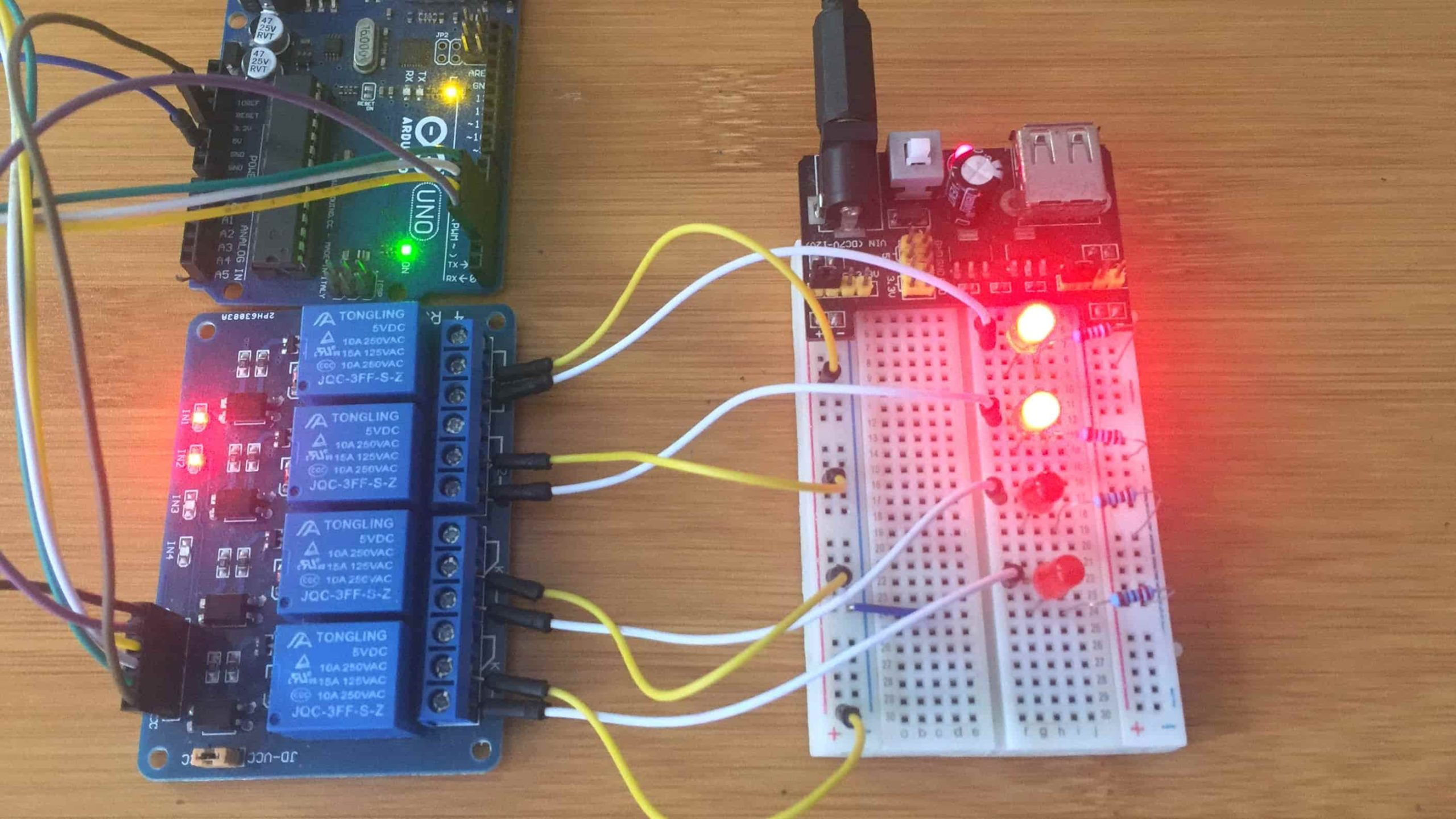 4 channel relay module with arduino