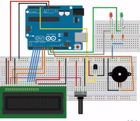 lm35 temperature sensor with Arduino and 16x2 LCD