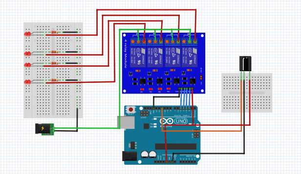 ir remote controlled relay schematic
