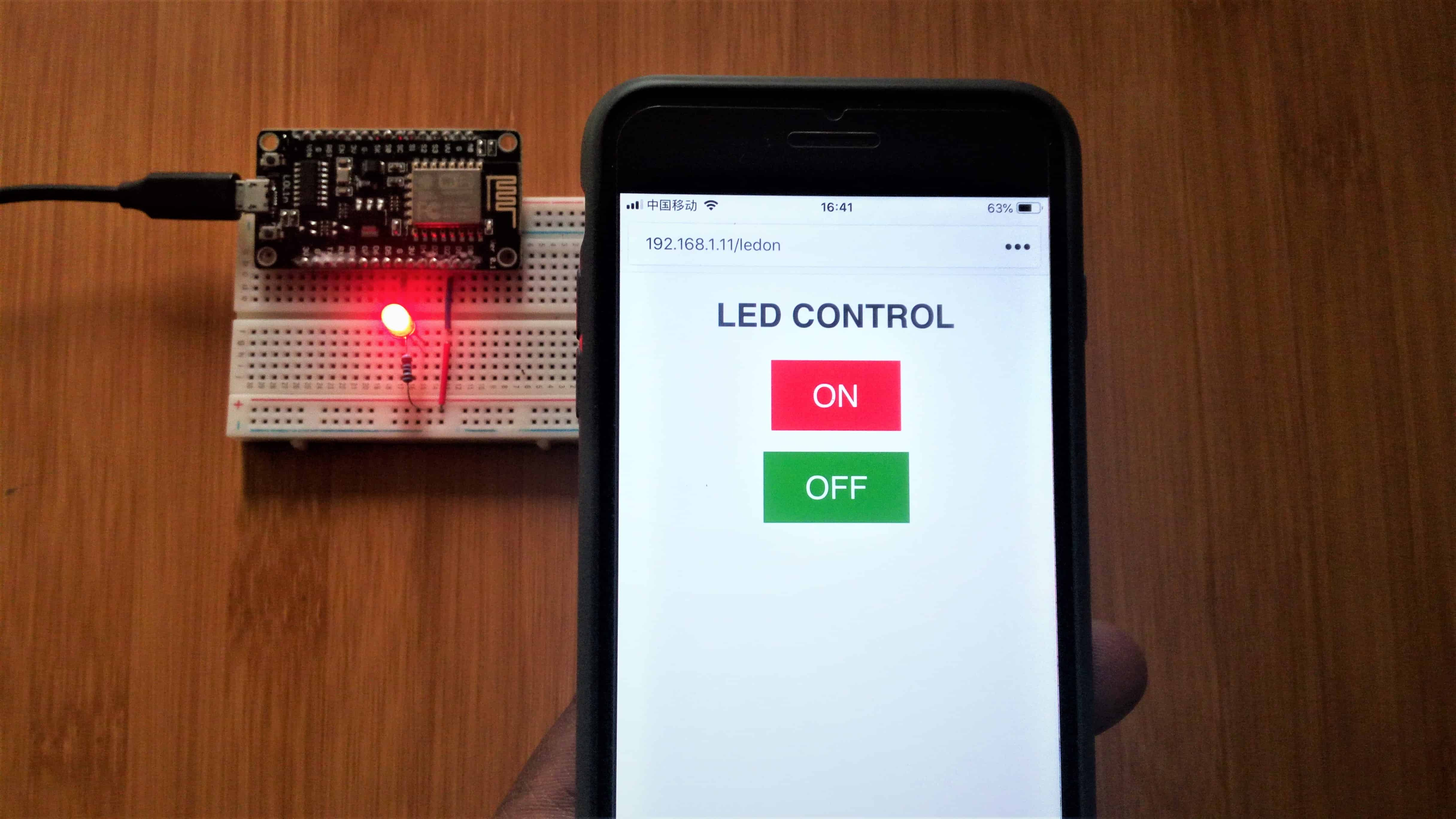 Nodemcu Webserver with Arduino IDE for controlling LEDs.