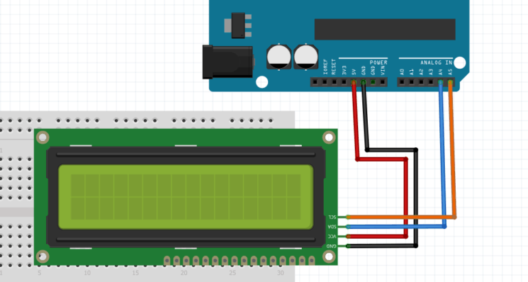i2c lcd with arduino schematic