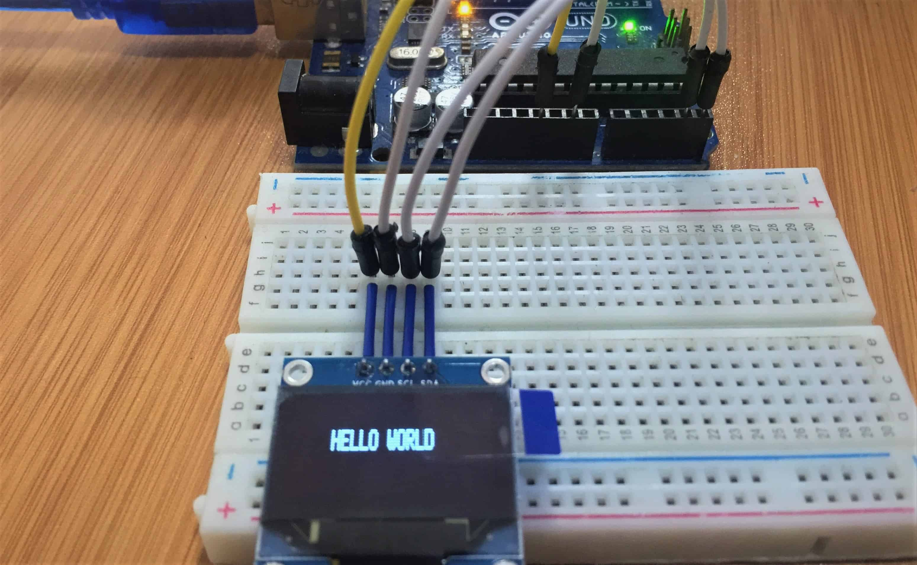 oled i2c with Arduino