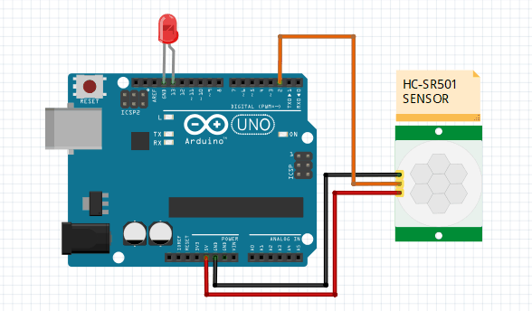 pir sensor with arduino