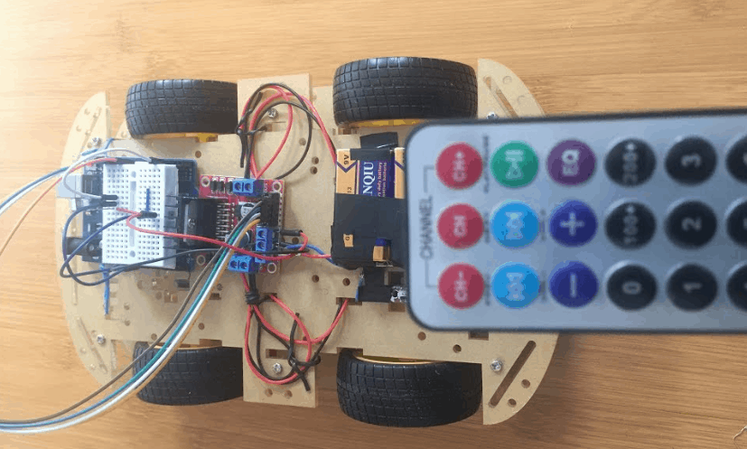 Remote controlled Car Using Arduino