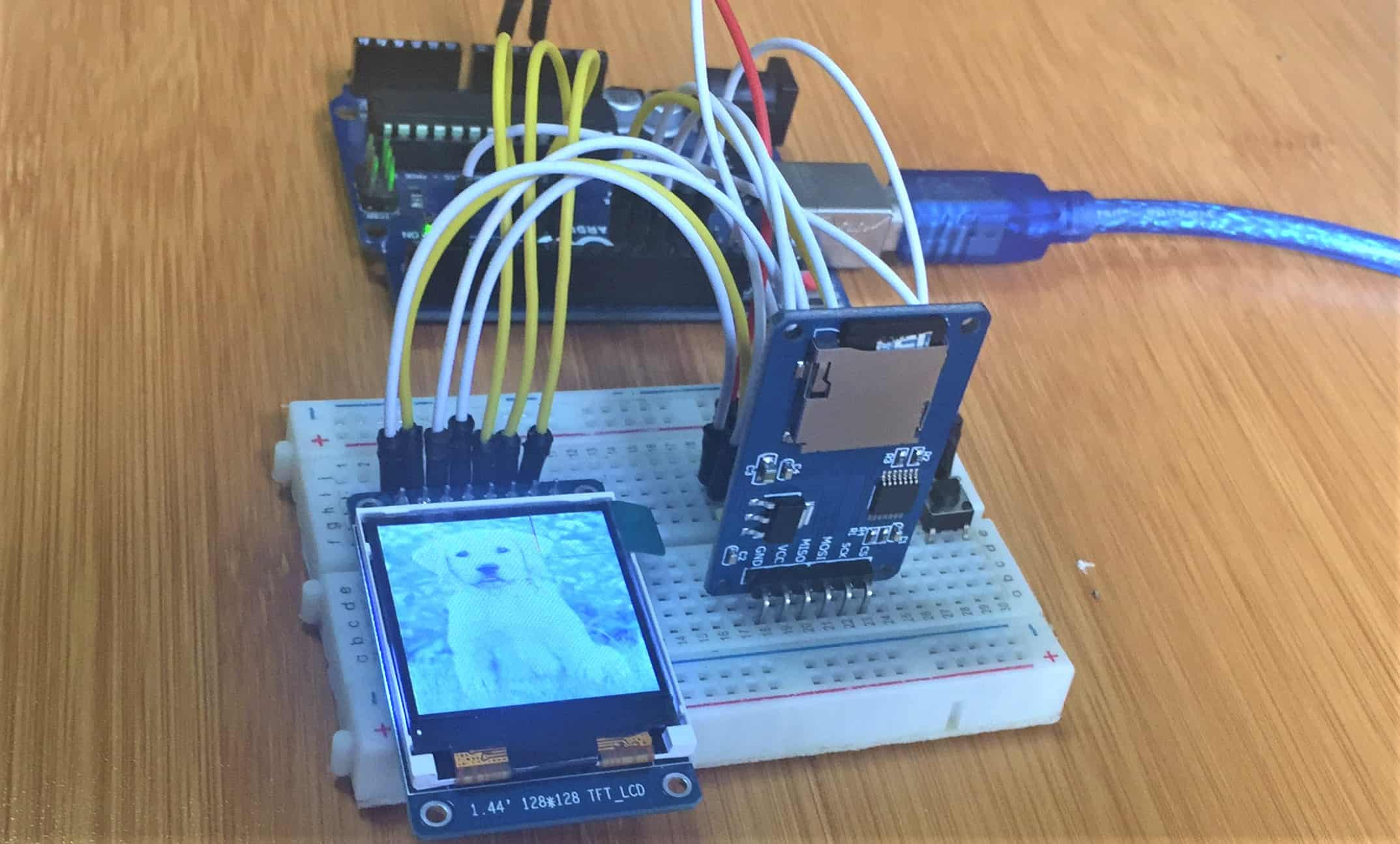 Micro SD card Module with Arduino and TFT display.