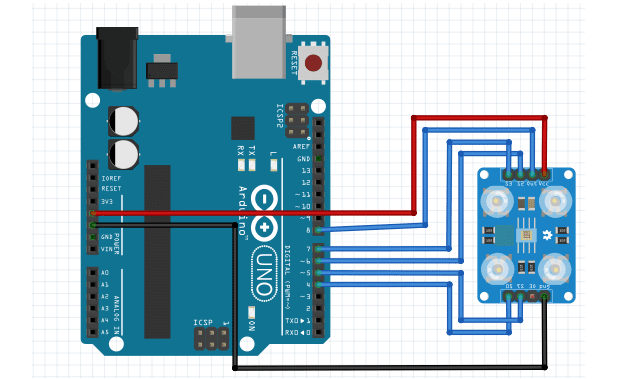 tcs3200 with arduino calibration schematic
