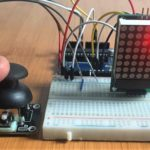 dual axis joystick using Arduino and max7219 led matrix