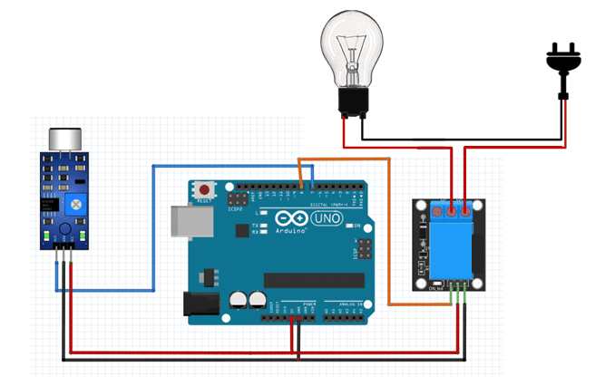 sound sensor clap switch for controlling bulb