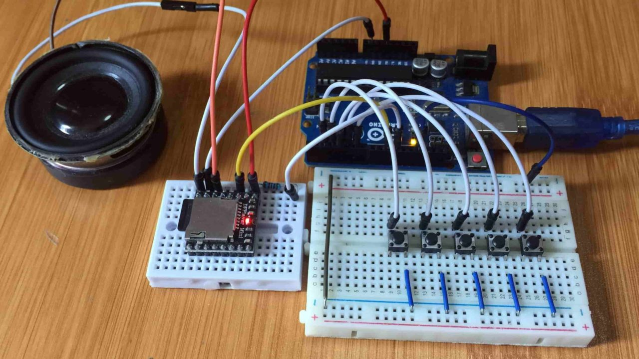 MP3 Player using DFPlayer and Arduino.