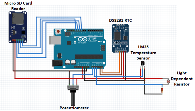 arduino data logger with sd card schematic