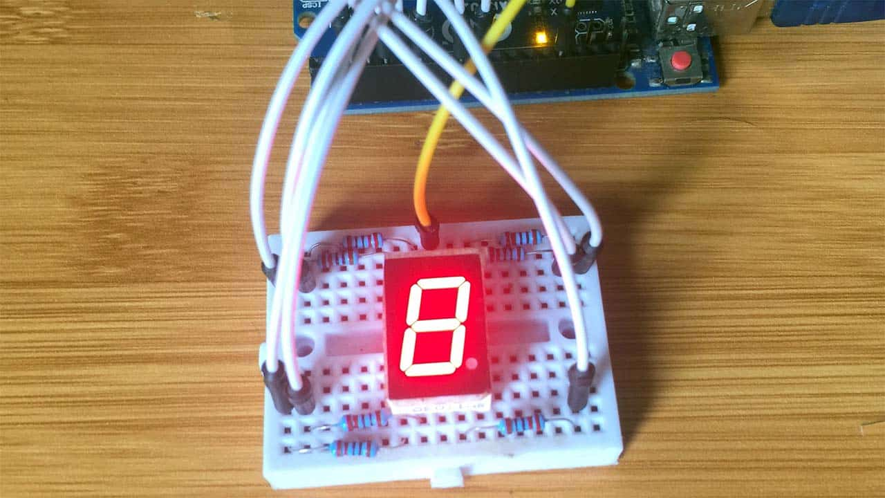 7 segment display with arduino