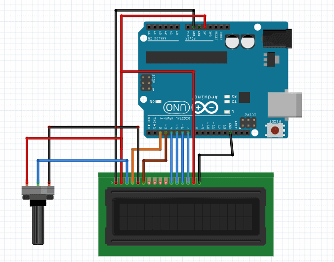 arduino lcd display schematic
