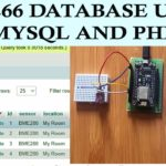 esp8266 database using msql and php