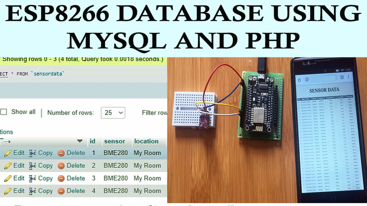 How to Connect ESP8266 to MYSQL Database using PHP and Arduino IDE.