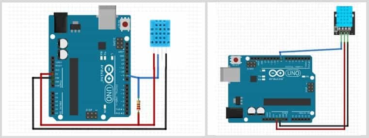 Connecting DHT11 Temperature and humidity sensor to Arduino